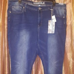 Blue Jeans with Flap Back Pocket